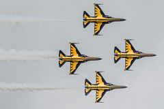 Το αεροπλάνο αεριωθούμενων αεροπλάνων παρουσιάζει Στοκ φωτογραφίες με δικαίωμα ελεύθερης χρήσης