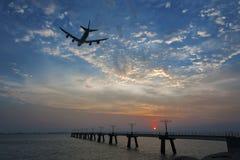 το αεροπλάνο από παίρνει Στοκ Εικόνα