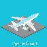 Το αεροπλάνο είναι στον αερολιμένα Στοκ Εικόνες
