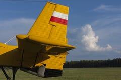 Το αεροπλάνο ουρών και πηδαλίων στοκ εικόνα με δικαίωμα ελεύθερης χρήσης