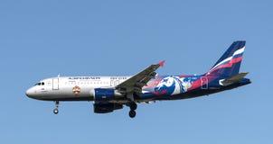 Το αεροπλάνο της ομάδας ποδοσφαίρου CSKA Στοκ Εικόνα