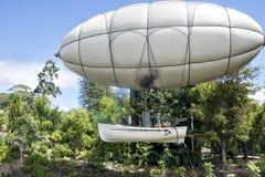 Το αεροσκάφος Steampunk ο αυθάδης μηνύει στους κήπους Νέα Ζηλανδία NZ του Χάμιλτον Στοκ Φωτογραφίες