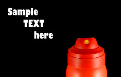 το αερόλυμα μπορεί να κλείσει το κόκκινο ακροφυσίων επάνω Στοκ εικόνα με δικαίωμα ελεύθερης χρήσης