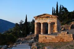 Το αθηναϊκό Υπουργείο Οικονομικών στους Δελφούς στοκ φωτογραφία