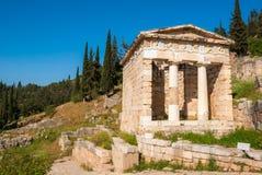 Το αθηναϊκό Υπουργείο Οικονομικών στους Δελφούς στοκ φωτογραφία με δικαίωμα ελεύθερης χρήσης