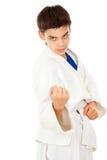 Το αθλητικό αγόρι υπερασπίζει στοκ φωτογραφίες με δικαίωμα ελεύθερης χρήσης