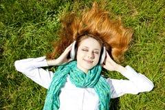 το ακουστικό κοριτσιών &beta Στοκ Εικόνα