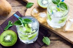 Το ακτινίδιο πίνει το κοκτέιλ με τη μέντα Στοκ φωτογραφίες με δικαίωμα ελεύθερης χρήσης