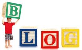 το αλφάβητο εμποδίζει blog στοκ φωτογραφία με δικαίωμα ελεύθερης χρήσης
