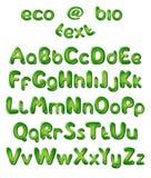 το αλφάβητο χρωματίζει τις πράσινες επιστολές ελεύθερη απεικόνιση δικαιώματος