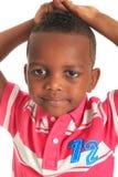 το αμερικανικό μαύρο παιδί afro 12 απομόνωσε τα χαμόγελα Στοκ Εικόνες