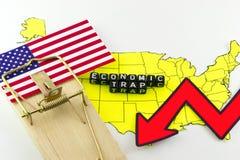Το αμερικανικό οικονομικό σύστημα Στοκ Φωτογραφίες