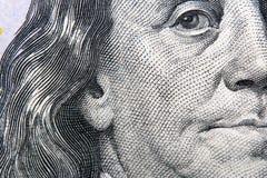 Το αμερικανικό δολάριο 100 τραπεζογραμμάτιο Στοκ εικόνα με δικαίωμα ελεύθερης χρήσης