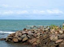 Το ανάχωμα στην παραλία Anyer Στοκ φωτογραφία με δικαίωμα ελεύθερης χρήσης