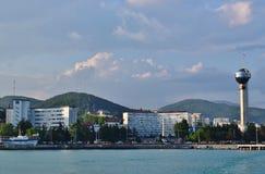 Το ανάχωμα της πόλης Tuapse σε Krasnodar Krai, Ρωσία στοκ φωτογραφία με δικαίωμα ελεύθερης χρήσης