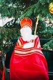 Το ανθρώπινο παιχνίδι κλίμακας Άγιου Βασίλη με συνδέει λοξά και ποιμενικό προσωπικό Στοκ φωτογραφία με δικαίωμα ελεύθερης χρήσης