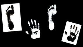 Το ανθρώπινο χέρι τελών ποδιών τυπώνει τον προσδιορισμό Στοκ φωτογραφία με δικαίωμα ελεύθερης χρήσης