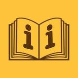 Το ανοικτό εικονίδιο βιβλίων Χειρωνακτικός και διδακτικός, οδηγία, σύμβολο εγκυκλοπαιδειών επίπεδος ελεύθερη απεικόνιση δικαιώματος