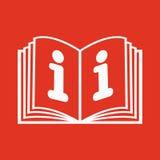 Το ανοικτό εικονίδιο βιβλίων Χειρωνακτικός και διδακτικός, οδηγία, σύμβολο εγκυκλοπαιδειών επίπεδος διανυσματική απεικόνιση