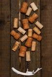 Το ανοιχτήρι και το κρασί βουλώνουν Στοκ Φωτογραφίες