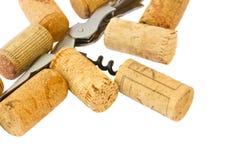 Το ανοιχτήρι με το κρασί βουλώνει Στοκ Εικόνα