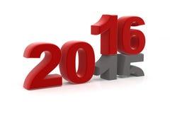 το 2015 αντικαθίσταται μέχρι νέο το 2016 Στοκ Φωτογραφίες