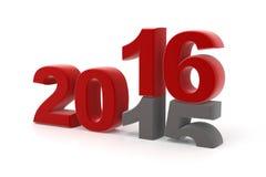 το 2015 αντικαθίσταται μέχρι νέο το 2016 Στοκ Εικόνα