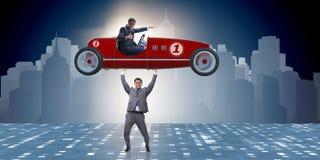 Το ανυψωτικό αθλητικό αυτοκίνητο επιχειρηματιών στην έννοια δύναμης Στοκ εικόνες με δικαίωμα ελεύθερης χρήσης