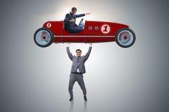 Το ανυψωτικό αθλητικό αυτοκίνητο επιχειρηματιών στην έννοια δύναμης Στοκ φωτογραφία με δικαίωμα ελεύθερης χρήσης