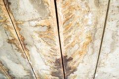 Το ανώτατο όριο τσιμέντου έχει τη σταλαγματιά νερού ιχνών στοκ εικόνα με δικαίωμα ελεύθερης χρήσης