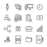Το απλό σύνολο επιχείρησης αφορούσε τα εικονίδια περιλήψεων Στοκ Εικόνες