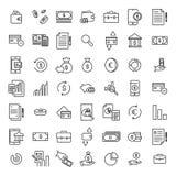 Το απλό σύνολο τραπεζικών εργασιών αφορούσε τα εικονίδια περιλήψεων Στοκ φωτογραφία με δικαίωμα ελεύθερης χρήσης