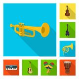 Το απομονωμένο αντικείμενο της μουσικής και συντονίζει το εικονίδιο Συλλογή της μουσικής και διανυσματική απεικόνιση αποθεμάτων ε διανυσματική απεικόνιση