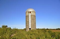 Το απομονωμένο σιλό παραμένει farmstead Στοκ Εικόνες