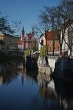 Το απόγευμα ενός συμπαθητικού Λουμπλιάνα Στοκ φωτογραφία με δικαίωμα ελεύθερης χρήσης