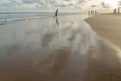 Το απόγευμα της Δευτέρας στην παραλία Obama, Cotonou στοκ εικόνα