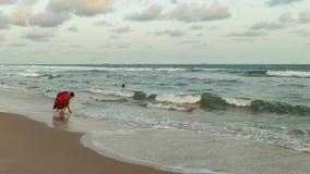 Το απόγευμα της Δευτέρας στην παραλία Obama, Cotonou στοκ εικόνες με δικαίωμα ελεύθερης χρήσης