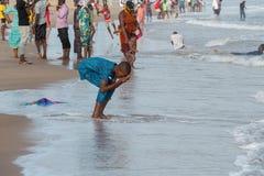 Το απόγευμα της Δευτέρας στην παραλία Obama, Cotonou στοκ εικόνα με δικαίωμα ελεύθερης χρήσης