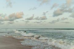 Το απόγευμα της Δευτέρας στην παραλία Obama, Cotonou στοκ φωτογραφία με δικαίωμα ελεύθερης χρήσης