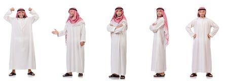Το αραβικό άτομο που απομονώνεται στο άσπρο υπόβαθρο Στοκ Εικόνα