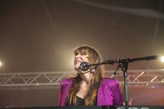 Το αρσενικό ελάφι της Beth, ΗΠΑ, το φεστιβάλ μπλε Στοκ Εικόνα