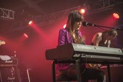 Το αρσενικό ελάφι της Beth, ΗΠΑ, το φεστιβάλ μπλε Στοκ εικόνες με δικαίωμα ελεύθερης χρήσης