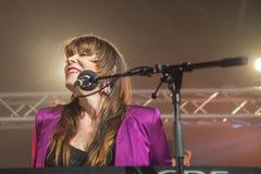 Το αρσενικό ελάφι της Beth, ΗΠΑ, το φεστιβάλ μπλε Στοκ φωτογραφίες με δικαίωμα ελεύθερης χρήσης