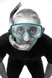 το αρσενικό κολυμπά με αναπνευτήρα Στοκ εικόνα με δικαίωμα ελεύθερης χρήσης