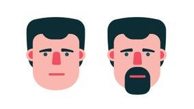 Το αρσενικό πρόσωπο λέει ναι και αριθ. διανυσματική απεικόνιση