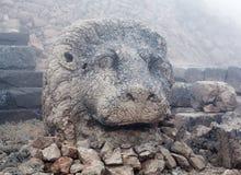 Το αρχαίο άγαλμα του λιονταριού στο Nemrut τοποθετεί, Τουρκία Στοκ φωτογραφία με δικαίωμα ελεύθερης χρήσης