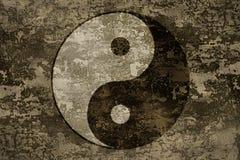 Το αρχαίο ασιατικό σύμβολο του yin-yang Στοκ εικόνα με δικαίωμα ελεύθερης χρήσης
