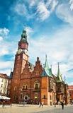 Το αρχαίο Δημαρχείο σε Wroclaw, Στοκ Εικόνες