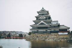 Το αρχαίο κάστρο κάστρο της Ιαπωνίας, Ματσουμότο Στοκ φωτογραφίες με δικαίωμα ελεύθερης χρήσης
