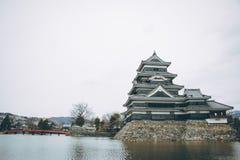 Το αρχαίο κάστρο κάστρο της Ιαπωνίας, Ματσουμότο Στοκ φωτογραφία με δικαίωμα ελεύθερης χρήσης